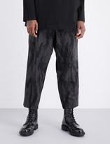 Yohji Yamamoto Camo-print wool trousers