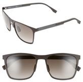 BOSS Men's 57Mm Retro Sunglasses - Dark Brown/ Brown Gradient