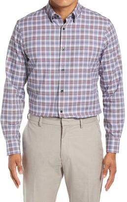 Nordstrom Tech-Smart Trim Fit Plaid Button-Up Shirt