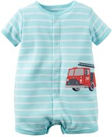 Carter's Baby Boys 1-piece Appliqué Snap-up Cotton Romper