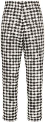 PASKAL clothes gingham cropped trousers