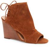 Tahari Rust Margo Open Toe Wedge Sandals