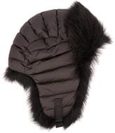 Moncler Fur-trimmed down-filled hat