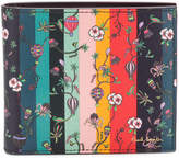 Paul Smith floral print striped wallet
