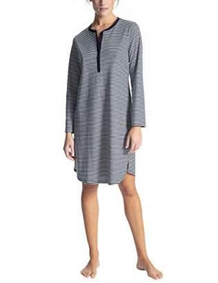 Calida Women's Soft Jersey Fun Pyjama Set, Peacoat Blue 488, (Size: X-Large)