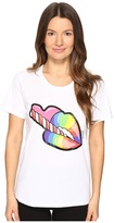 Just Cavalli Rainbow Lip Short Sleeve T-Shirt Women's T Shirt