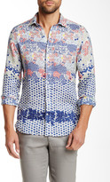 Ganesh Multi Floral Print Long Sleeve Linen Slim Fit Shirt