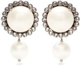 Miu Miu Faux-pearl clip-on drop earrings