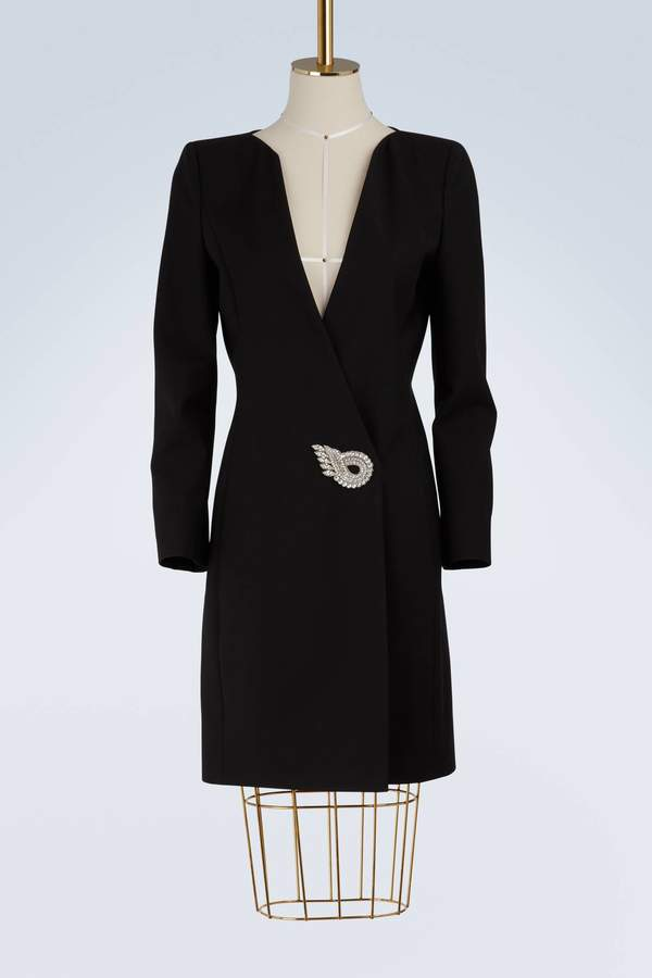 Givenchy Wrap dress with jewel fastening