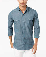 INC International Concepts I.n.c. Men's Textured Chambray Shirt, Created for Macy's