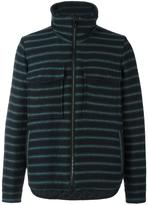 Andrea Pompilio - striped high neck cardigan - men - Polyester/Viscose/Virgin Wool - 46