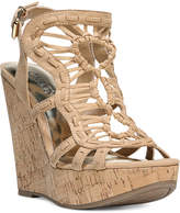 Carlos by Carlos Santana Banjo Platform Wedge Sandals