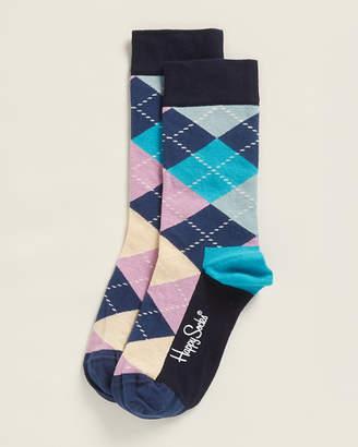 Happy Socks Navy Argyle Socks