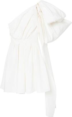Carolina Herrera Draped Bow-Detail Dress