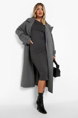 boohoo Cap Sleeve Jersey Bodycon Midi Dress