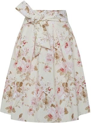 Menashion Wrap Skirt No. 903 Roses
