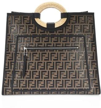 Fendi Runaway Leather Shopper