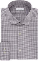 Calvin Klein Steel Men's Slim-Fit Non-Iron Performance Stretch Red Check Dress Shirt