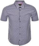 BOSS GREEN HUGO C Bustaino Gingham Shirt Navy