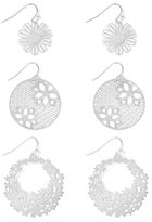 New York & Co. Floral Filigree Drop Earring Set