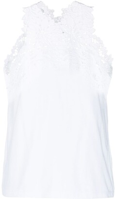 Ermanno Scervino Floral-Lace Sleeveless Top