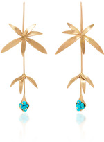 Annette Ferdinandsen Long Wildflower Earrings with Turquoise