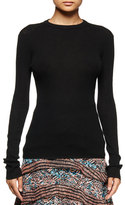 Proenza Schouler Long-Sleeve Open-Back Sweater, Black