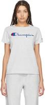 Champion Reverse Weave Grey Big Script T-Shirt