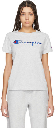 Champion Reverse Weave Grey Big Script T-Shirt
