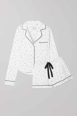 Rails Printed Voile Pajama Set - White