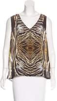 Alexis Abstract Print Silk Top