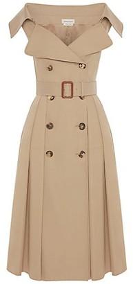 Alexander McQueen Sleeveless Belted Trench Dress