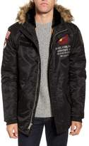 Schott NYC N3-B Snorkel Flight Jacket with Faux Fur Trim & Lining