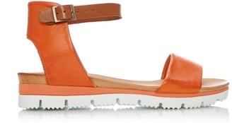 Moda In Pelle Painting Orange Leather