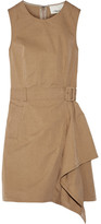 3.1 Phillip Lim Belted Cotton-twill Dress - Mushroom