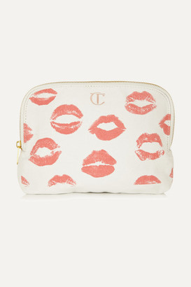 Charlotte Tilbury Printed Cotton-canvas Cosmetics Case - White