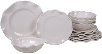 Certified International Melanine Perlette Cream 12Pc Dinnerware Set