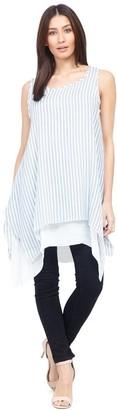 M&Co Izabel striped longline tunic top