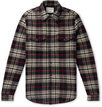Aspesi Checked Virgin Wool-Blend Flannel Jacket