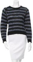 Theyskens' Theory Open Knit Crew Neck Sweater