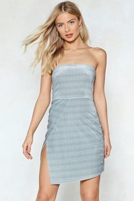 Nasty Gal Womens No Straps Attached Check Dress - Grey - 8, Grey