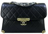 Chanel classic calfskin black (ancient silver chain) shoulder bag