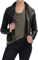 Andrew Marc Knit-Inset Leather Jacket (For Women)