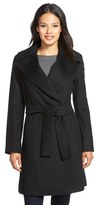 Trina Turk 'Violet' Wool Blend Wrap Coat