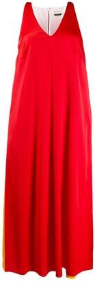 Mulberry V-neck color block shift dress