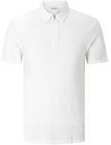 Samsoe & Samsoe Durango Zip Neck Polo Shirt, White