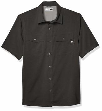 Hi-Tec mens Huckleberry Lightweight Striated Short Sleeve T-shirt novelty t shirts