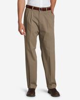 Eddie Bauer Men's Performance Dress Pleated Khaki Pants - Classic Fit