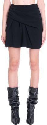IRO Jouena Skirt In Black Synthetic Fibers