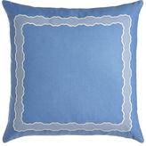 """Sferra Embroidered Linen Pillow, 17"""" x 30"""""""